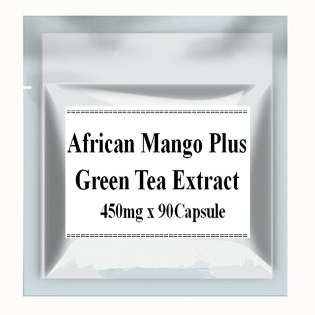 1Pack Super African Mango Extract + Green Tea Extract Capsules 450mg x 90pcs free shipping