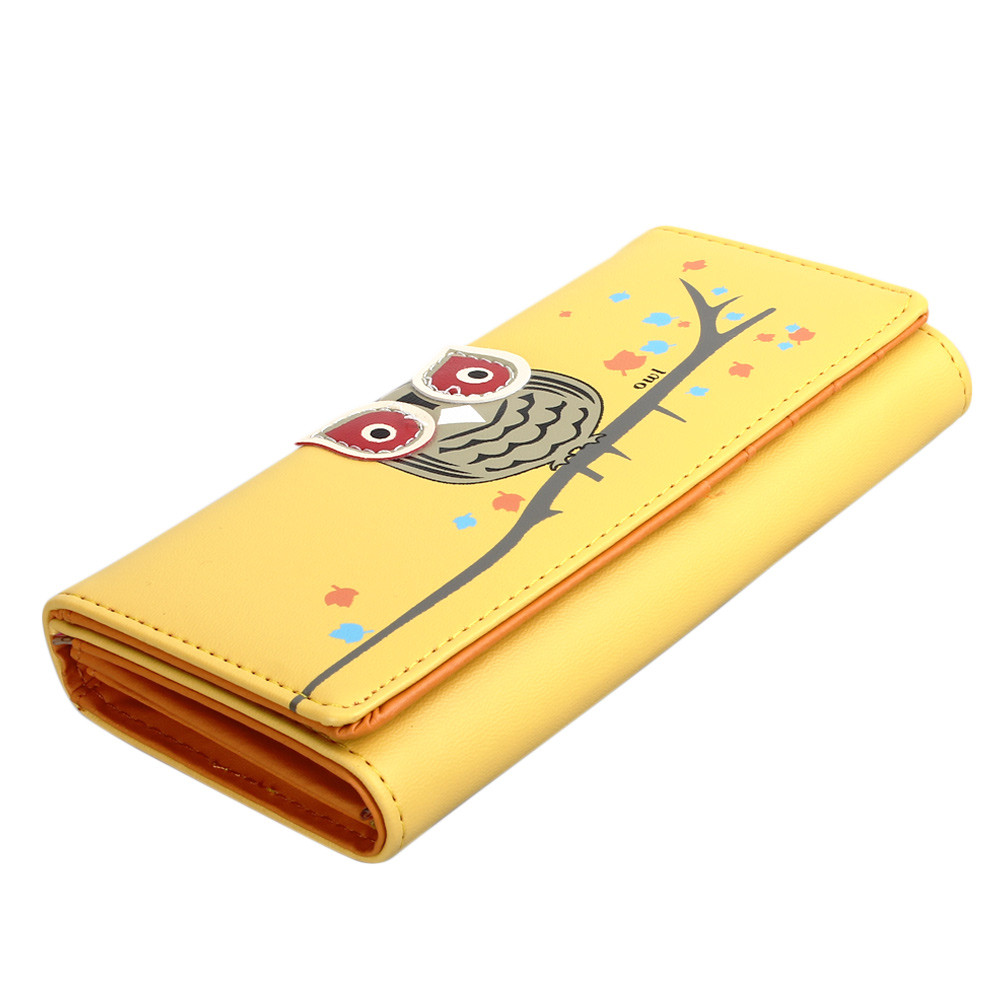 New Arrival Women Owl Ladies Wallets Female Cards Holders Candy Colors Pu Wallet Small Fresh Wallet Phone Bag carteira feminina