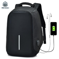 INHO CHANCY Anti Theft Backpack Xd Design Waterproof Multi Function USB Rechargeable Back Pack Laptop Bag