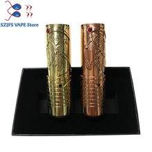 Hardess mech mod  510 wire brass material 26.5mm diameter for 18650 20700 21700 battery vaporizer vape pen mods vs Kennedy 25 недорого