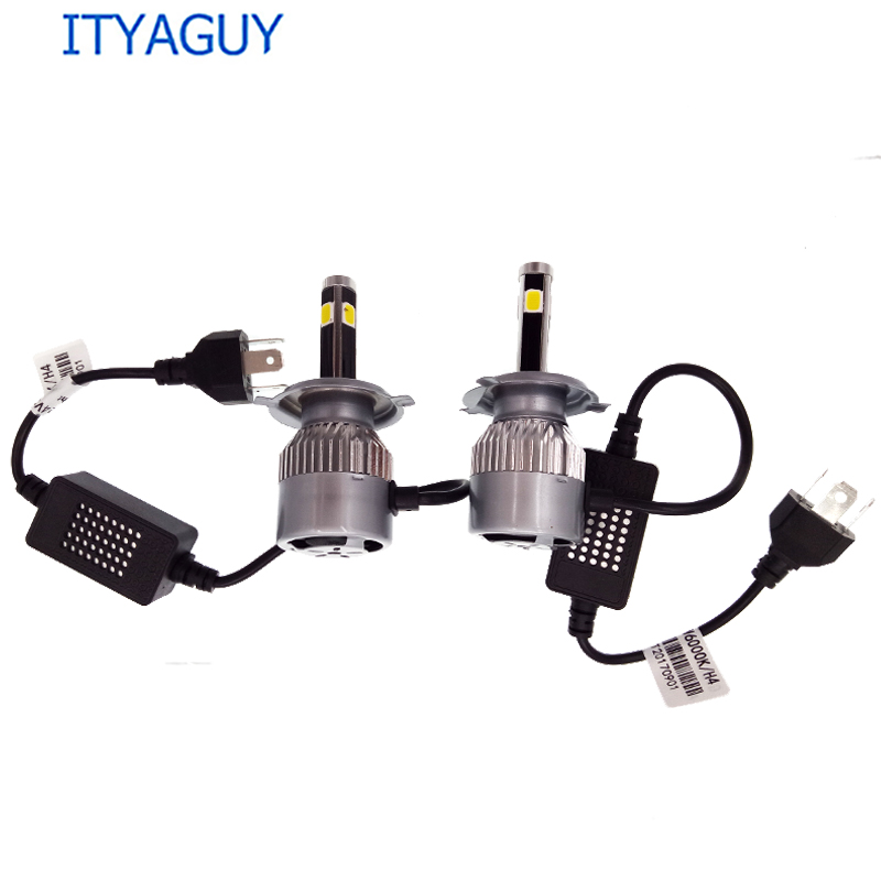 2pcs Car LED Headlight C6 4 SIDE H1 H3 H7 H8/H9/H11 9005 9006 880/881 9012 H4 H13 9004 9007 cnsunnylight car led headlight bulbs all in one h7 h11 h1 880 h3 9005 9006 9012 5202 72w 8500lm h4 h13 9007 high low beam lights