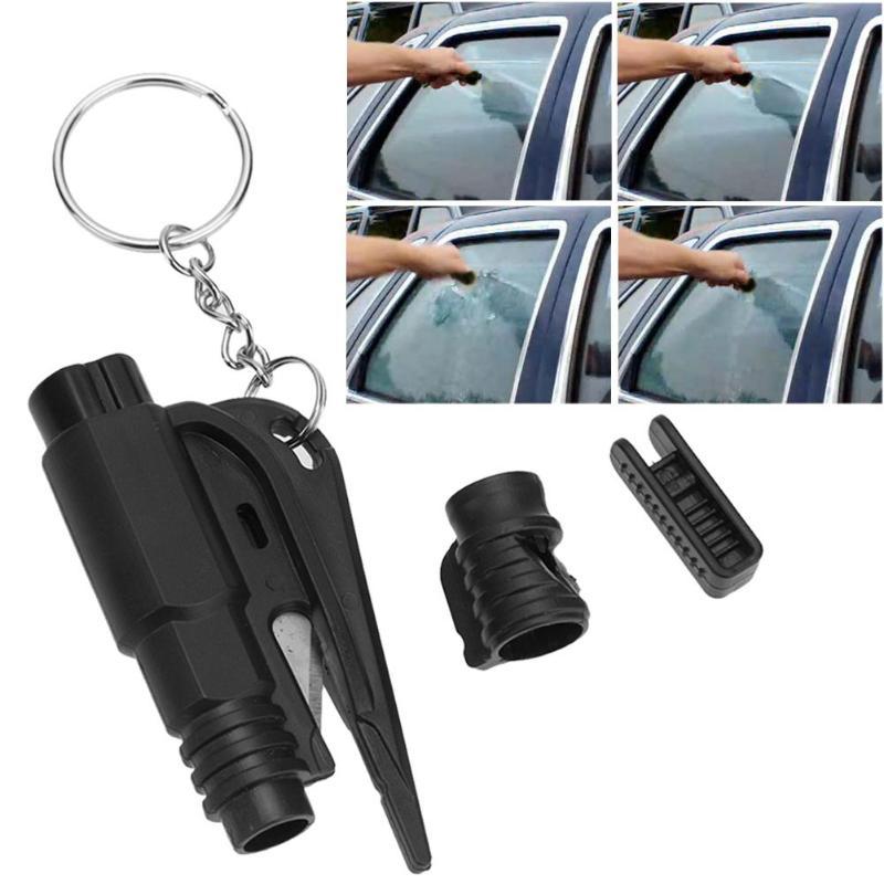 3 in 1 Mini Safety Hammer Life-Saving Escape Rescue Tool  Auto Car Window Keychain Broken Auto Emergency Glass Breaker