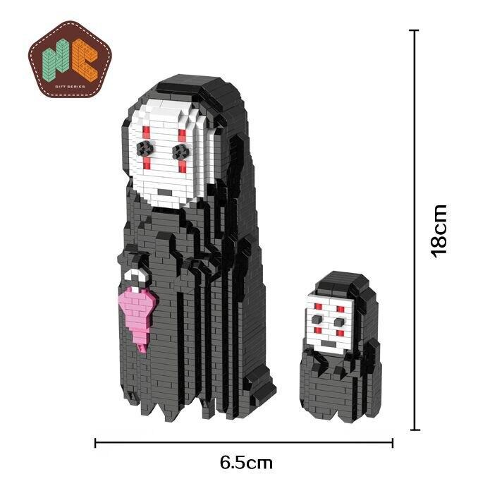 HC Personagem de Anime Japonês A Viagem de Chihiro Desenhos Animados Micro Leilão Figura Blocos de Construção DIY brinquedos Brinquedo Brinquedo Das Crianças Caçoa o Presente