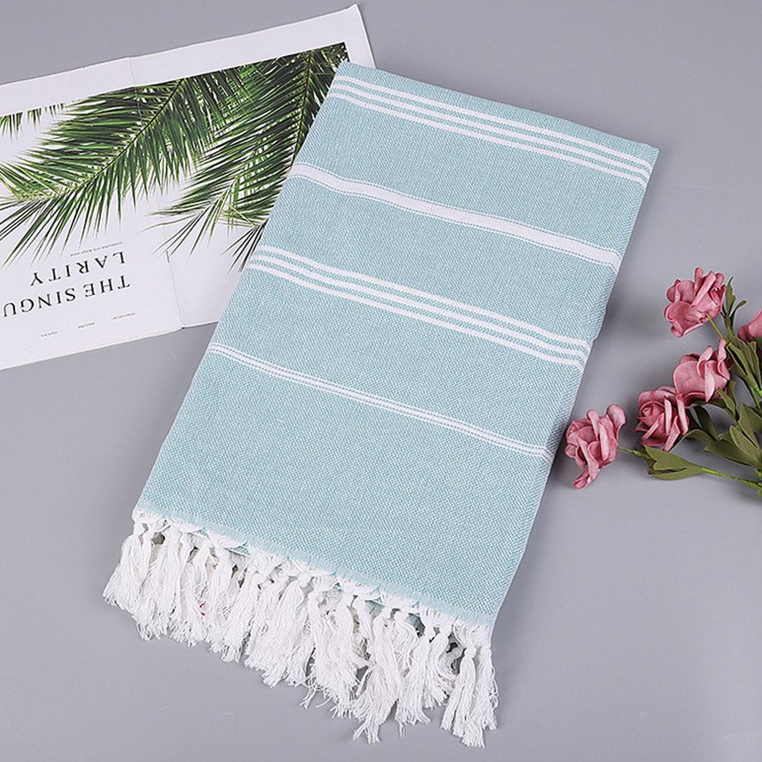 1Pc Turkish Beach Towels 100% Cotton Stripes Thin Bath