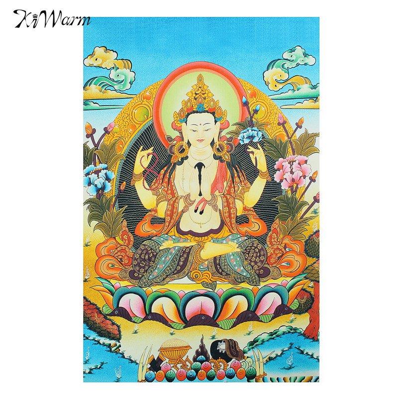 "24/""Tibet Buddhism Cloth Silk god of longevity Longlife Thangka Embroidery Mural"