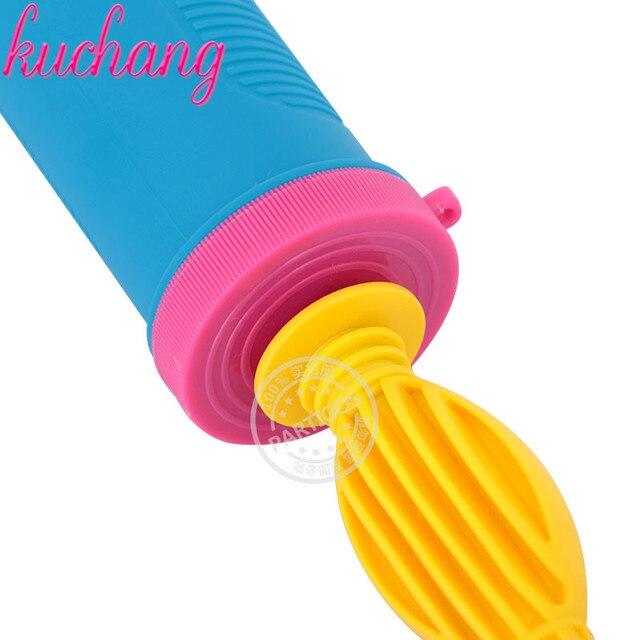 Pompe à ballon à main en plastique jaune bleu pour ballons en aluminium et en Latex pompe à gonflage dair Portable pour accessoires de fête