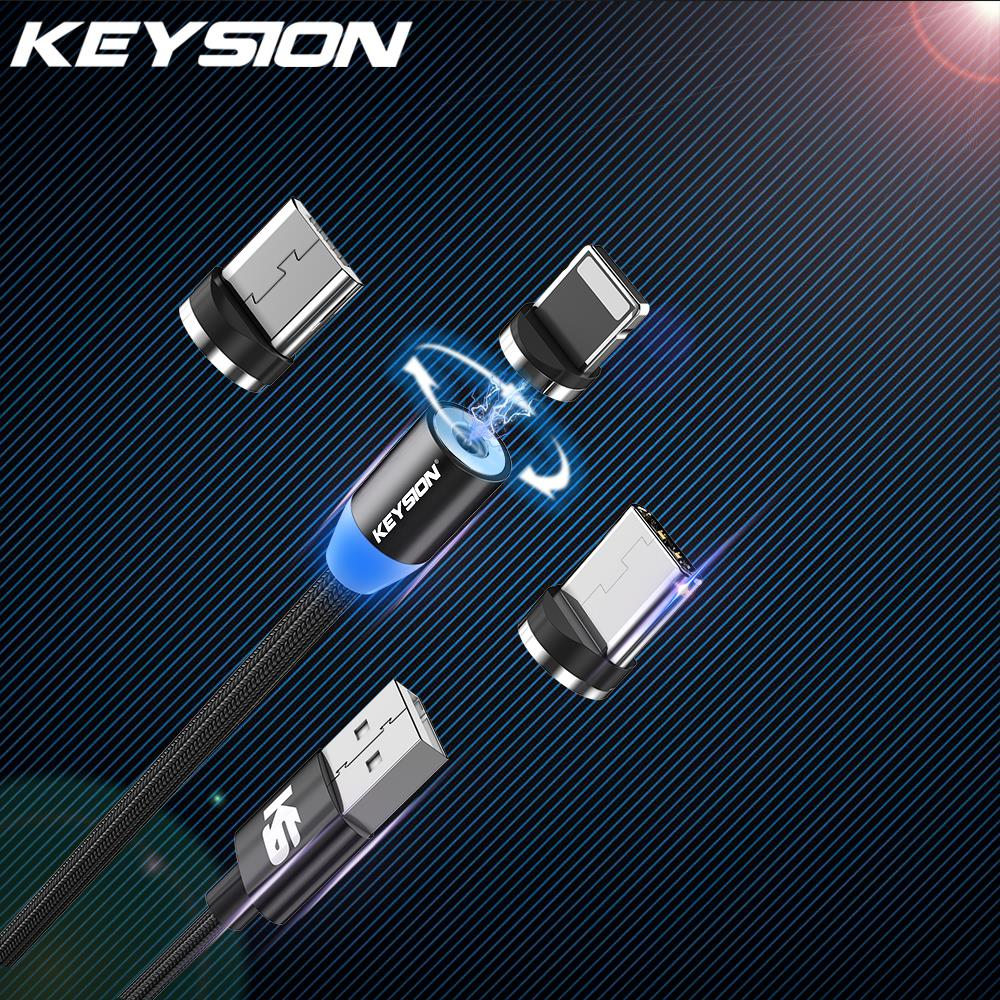 KEYSION Magnetic-Cable Charging-Wire Micro-Usb-Charger Xiaomi Type-C For iPhone Redmi