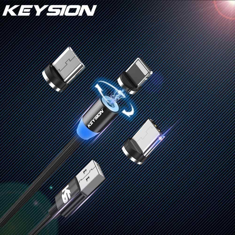 KEYSION نوع-C LED كابل مغناطيسي ل شياو mi mi 9 T الأحمر mi K20 برو المصغّر usb كابل الشاحن ل فون XS ماكس XS XR شحن سلك