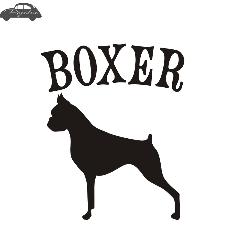 Car Boxer Car Pet Shop Sticker Dog Decal Boxer Posters Vinyl Wall Art Decals Decor Mural Pet Shop Sticker