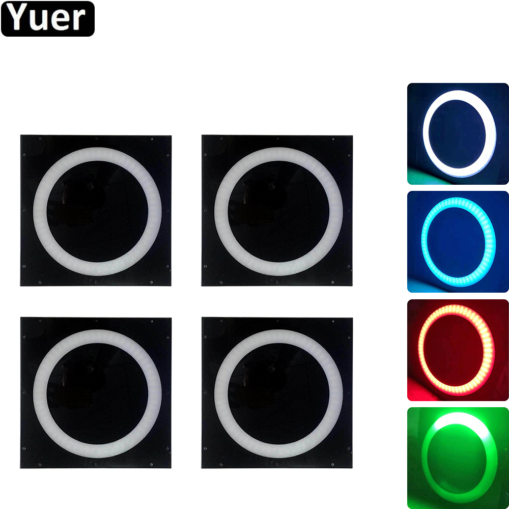 4Pcs/Lot 144Pcs LED Halo Pixes Background Lights Sound Activated Rotating Disco Ball Party Lights Strobe Light For Christmas DJ
