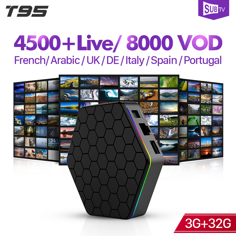 T95Z Plus Arabic France IPTV Android 7.1 3+32G BT Dual-Band WIFI IPTV SUBTV French Arabic Italy 1 Year IPTV Subscription Box    T95Z Plus Arabic France IPTV Android 7.1 3+32G BT Dual-Band WIFI IPTV SUBTV French Arabic Italy 1 Year IPTV Subscription Box