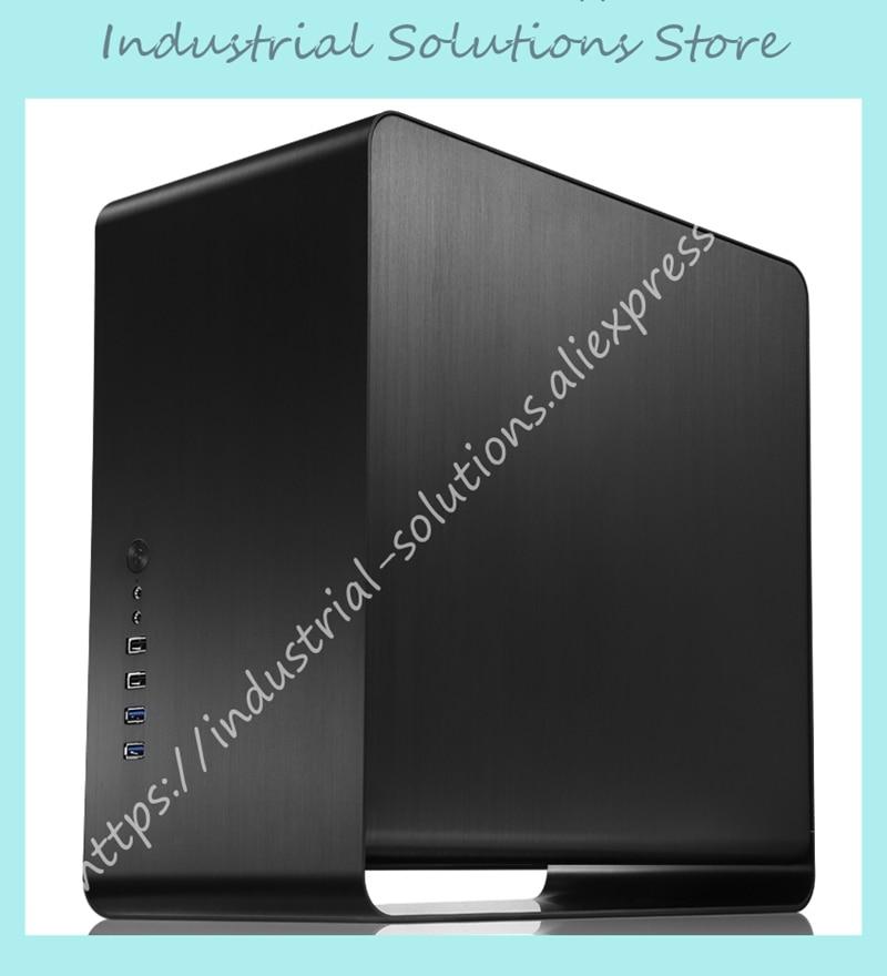 Новый чехол Jonsbo UMX3, прозрачная стеклянная боковая прозрачная версия, черный корпус, только чехол для компьютера