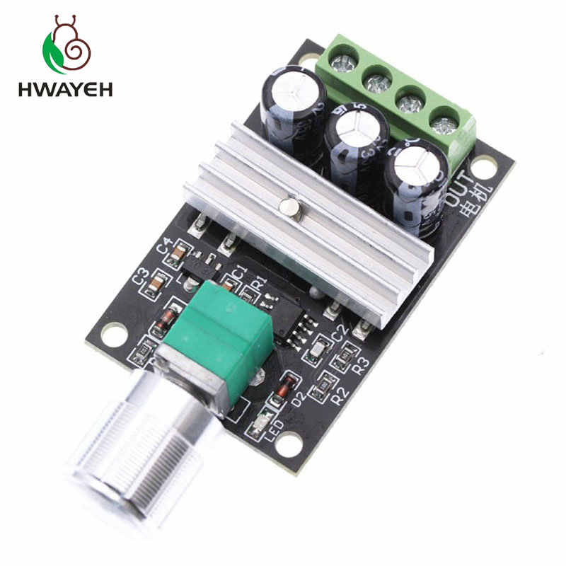 1pcs DC 6V 12V 24V 28VDC 3A 80W PWM Motor Speed Controller Regulator Adjustable Variable Speed Control With Potentiometer Switch