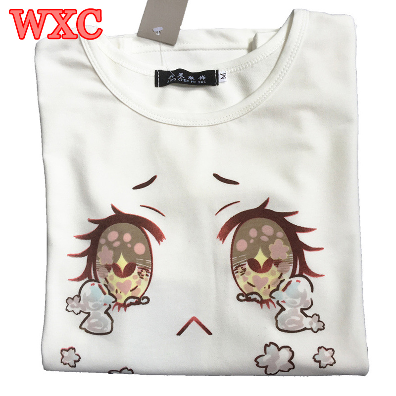 Big Eyes Cry Women T-Shirt Cotton Summer Short Sleeve Japanese Kawaii Tops 2016 Summer Sexy Harajuku white Lolita Girls T-shirt