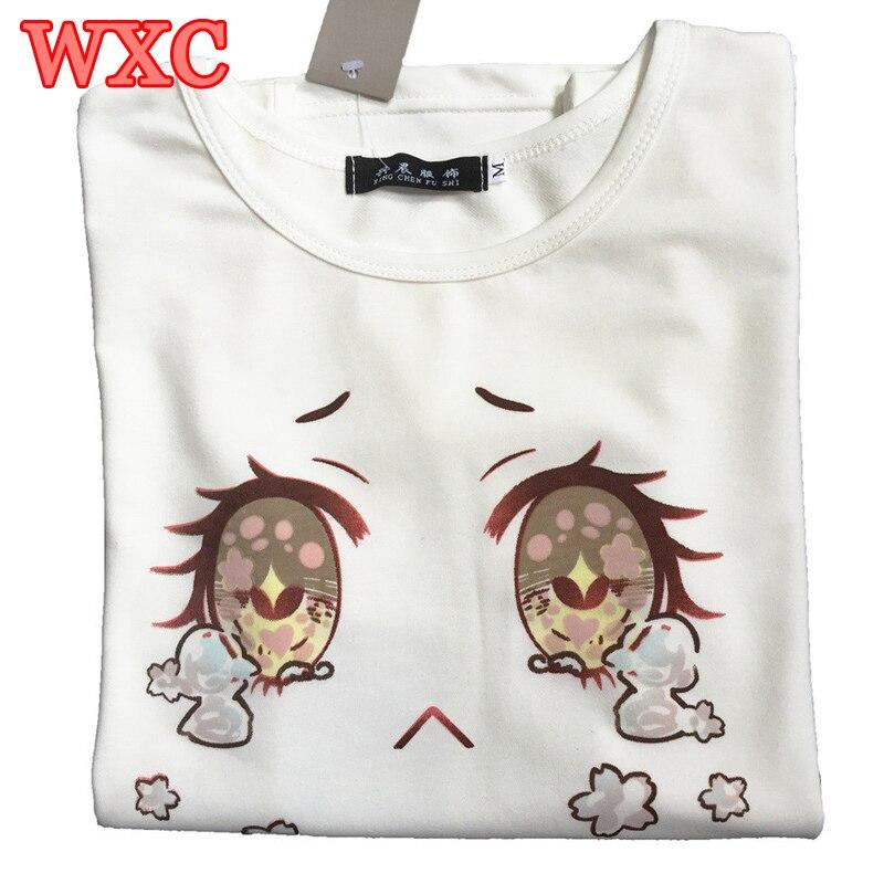 Big Eyes Cry Women font b T Shirt b font Cotton Summer Short Sleeve Japanese Kawaii