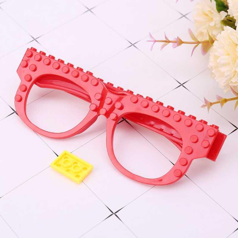 Óculos novos blocos placa base compatível com legoed minecrafted diy brinquedos educativos quadro engraçado óculos base de tijolos Plate-M15