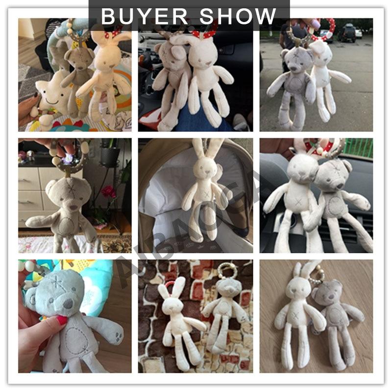 Bayi buaian kereta dorong mainan kelinci kelinci beruang lembut - Mainan untuk kanak-kanak - Foto 6