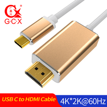 GCX USB C HDMI Cable 4K 60Hz USB-C for MacBook Samsung Galaxy S10/S9 Huawei Mate 20 P20 Pro 3.1 Type to Adapter