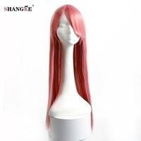 Shangke 80センチ32インチ長いストレート髪赤ピンク黒9色
