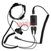 good performance two way radio microphone heavy duty PTT neck headset walkie talkie radio tactical throat mic