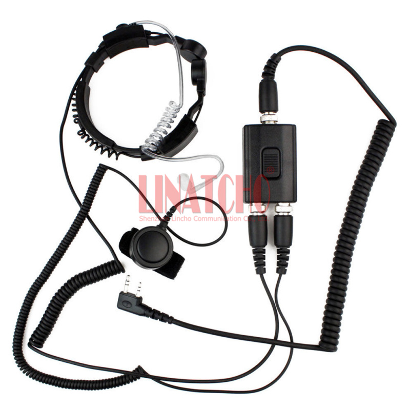 good performance two way radio microphone heavy duty PTT neck headset walkie talkie radio tactical throat mic
