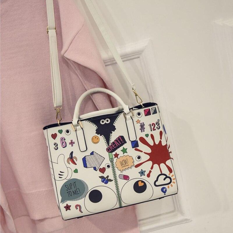 impressão dos desenhos animados bolsa Inside Bag Size : 21cm*28cm*7cm