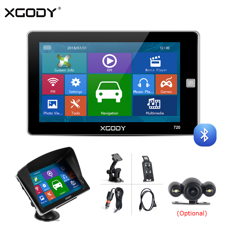 XGODY Rearview-Camera Navigation Truck Gps Capacitive-Screen New 8GB Car EU Russia AU