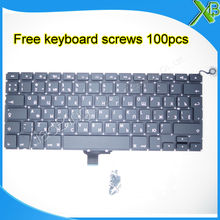 "Brand New For MacBook Pro 13.3"" A1278 RU Russian keyboard+100pcs keyboard screws 2008-2012 Years(China)"