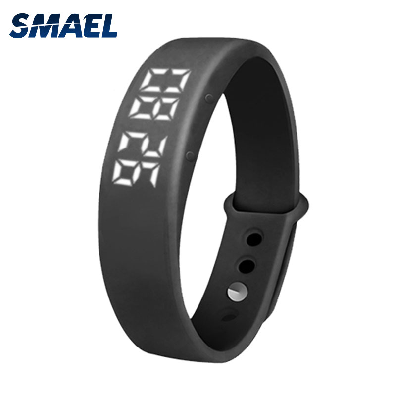 SMAEL LED Multifunctional Wristwatch USB Transmit Smart Watch Step Counteruhr Digitale Sport Uh Zeit Datum SL-W5