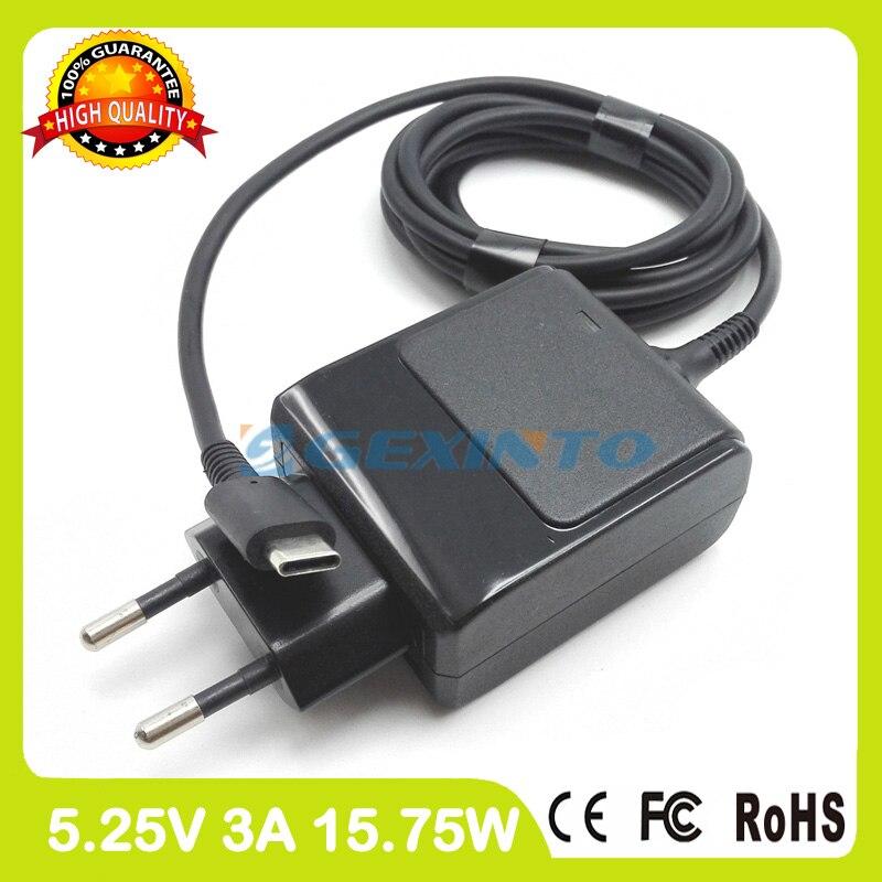 5.25 V 3A USB-C TYPE-C Adaptador Ac Carregador de Bateria Para Tablet HP X2 210 G1 Chromebook 11 Pixel C PA-1150-23HA TPN-LA01 Plugue DA UE