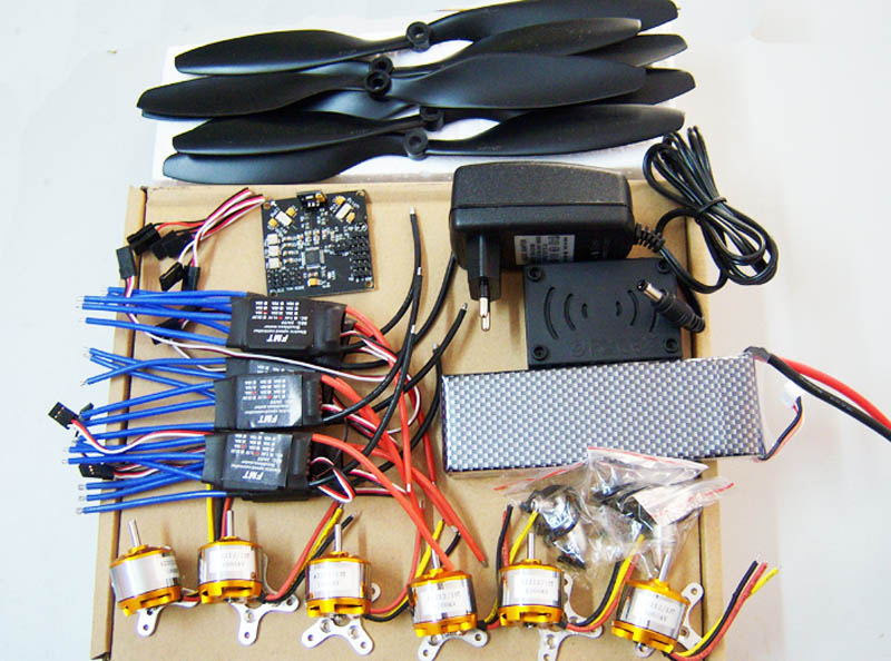 купить F05114-E RC HexaCopter Parts: KK Multicopter V2.3 Hex-Rotor Flight Controller 30A ESC A2212 Motor Battery Propellers недорого
