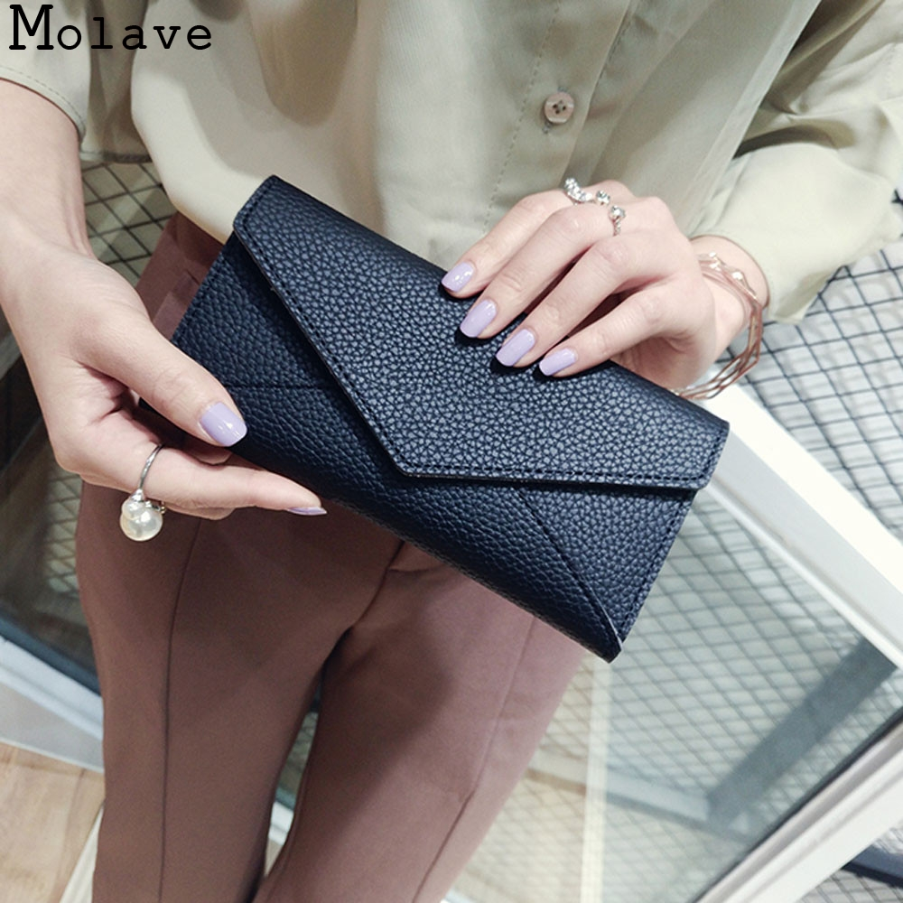 MOLAVE wallet Women Daily Use Clutches Quality Clutch Purse Fashion PU Leather Solid hasp wallets female famous dec19 yuanyu 2018 new hot free shipping pearl fish skin long women clutches euramerican fashion leisure female clutches