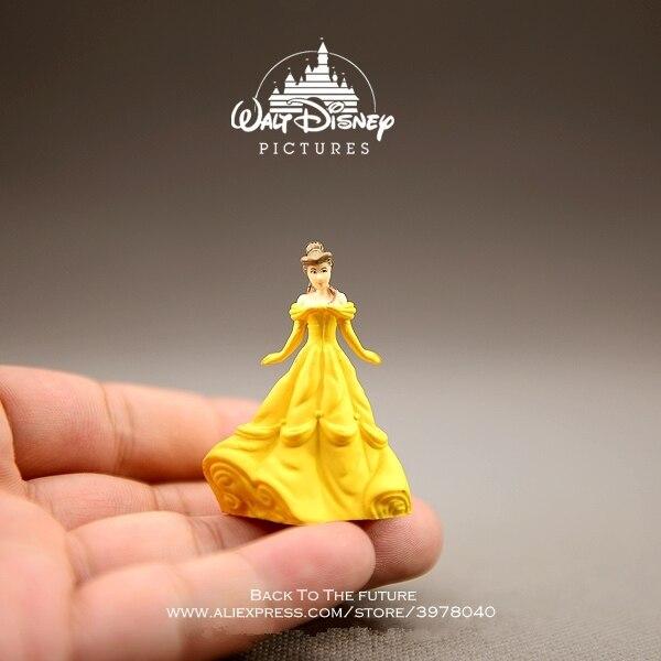 Disney la Belle et la bête Belle princesse 4.5 cm poupée Figurine Action Anime Mini Collection Figurine jouet modèle pour enfants cadeau
