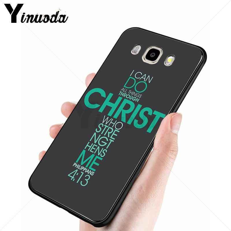 Yinuoda พระเยซูคริสต์ Christian Cross โทรศัพท์กรณีสำหรับ Samsung Galaxy j6plus j7prime j8 j2 prime j4plus 2018 funda