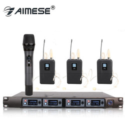 Wireless Microphone System U4000 Professional Microphone 4 Channel UHF Dynamic Professional 4 Handheld Microphone + Karaoke