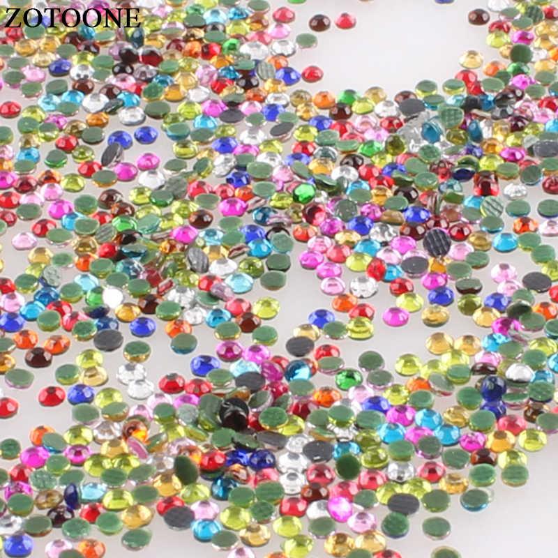 Zotooone SS6 Hotfix Colori Misti di Cristallo Della Resina Del Flatback Del Chiodo di Strass Ferro su Cristalli Pietre Strass per Abiti Fai da Te Artigianato E