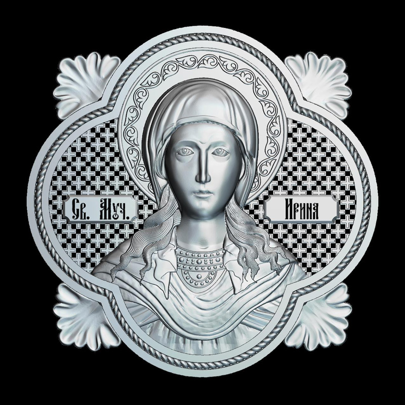 Martyr Irina 3d model for cnc STL format Religion 3d Relief Model STL Router 3 axis Engraver ArtCam martyrs faith hope and love and their mother sophia 3d model relief figure stl format religion for cnc in stl file format