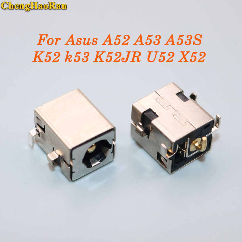 ChengHaoRan per Asus A52 A53 A53S K52 k53 K52JR U52 X52 X53 X54 PJ033 A43 X43 U30 DC jack di alimentazione connettore 2.5 millimetri D'oro