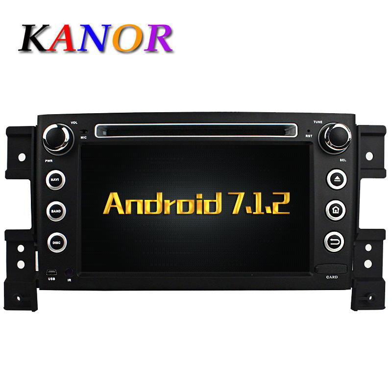 Kanor Android 7.1 Quad Core Оперативная память 2 г автомобильный DVD GPS Радио стерео для Suzuki Grand Vitara 2005-2011 <font><b>Bluetooth</b></font> USB WI-FI Автомобильные ПК аудио