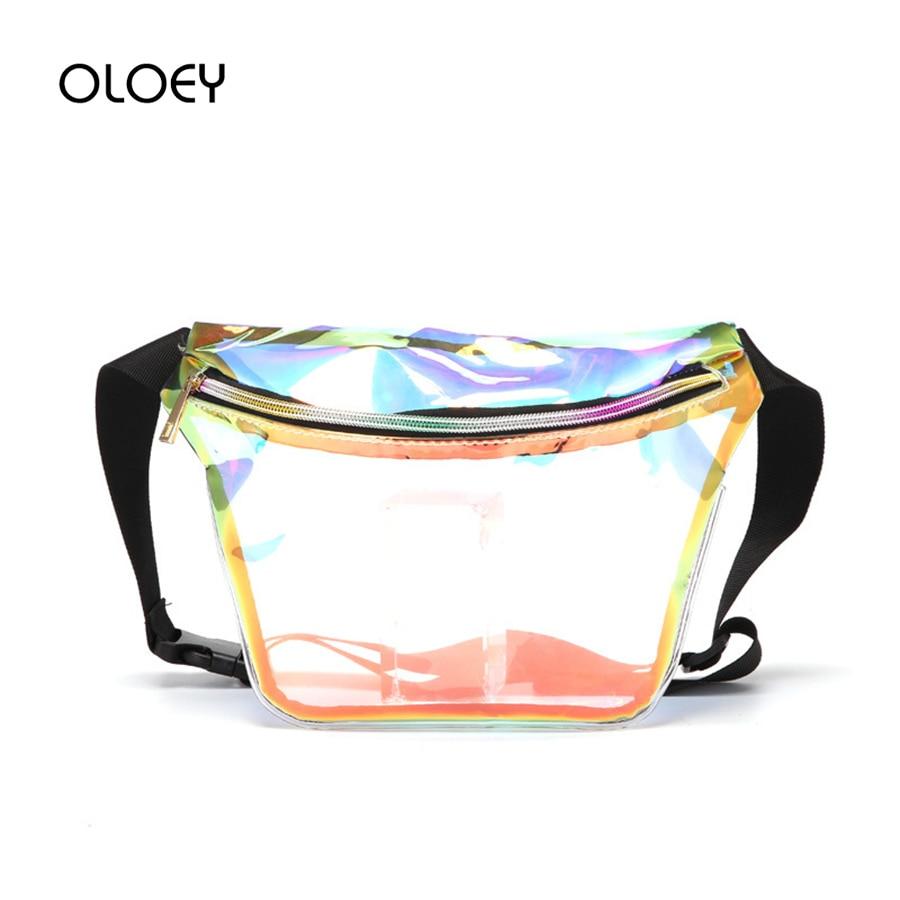 Clear PVC Transparent Fanny Packs Crossbody Women Waist Bag Shoulder Satchel Bag