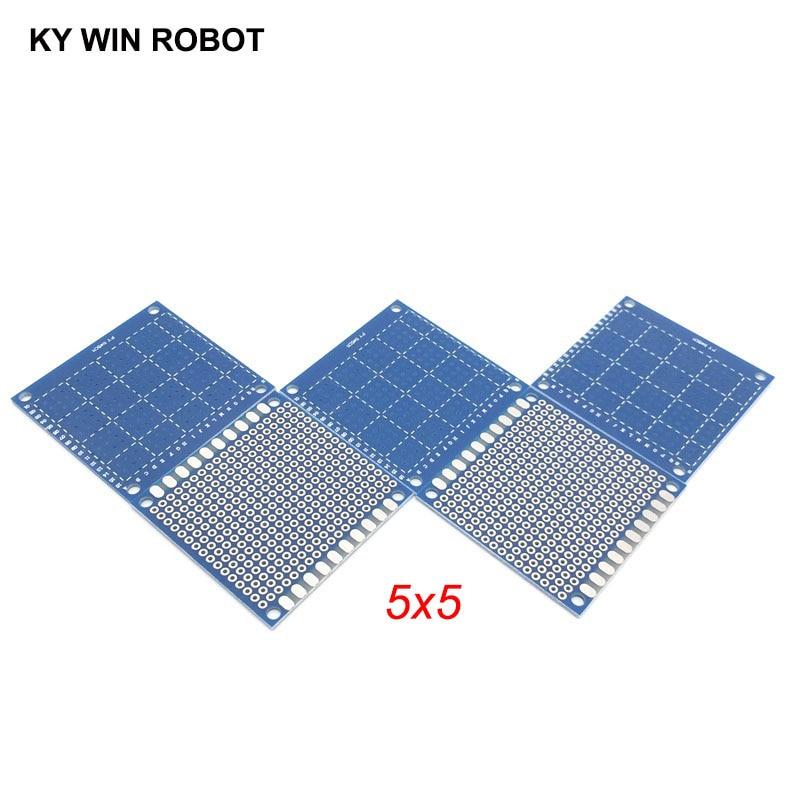 5pcs 5x5cm 50x50 Mm Bule Single Side Prototype PCB Universal Printed Circuit Board Protoboard For Arduino