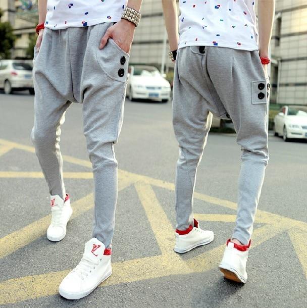 2015 Top Selling Spring Autumn Mens Harem Pants Casual Joggers Sweatpants For Men