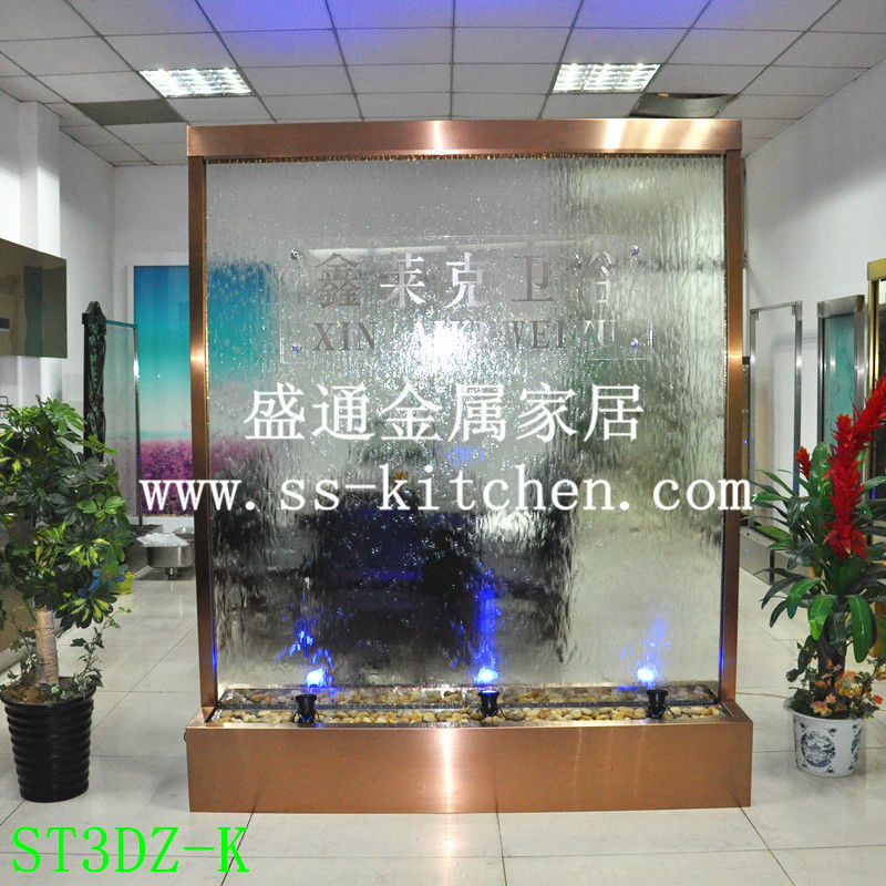 Customized Hotel Water Wall Screen/water Curtain Wall/fasionable Separating Curtain