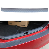Auto Car Rear Bumper Sill Protector Plate Carbon Fibre Cover Sticker For MAZDA CX 5 CX