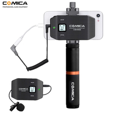 Comica CVM-WS50(B) 6 Channels Wireless Smartphone Lavalier Lapel Microphone System for iPhone Samsung Huawei Mobile Phones