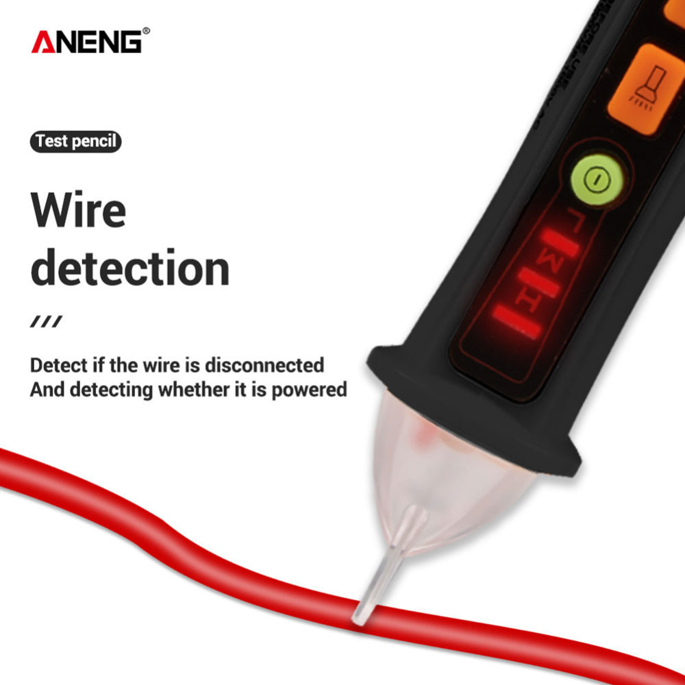 ANENG Non contact AC Voltage Detector Tester Meter 12V 1000v Pen Style Electric Indicator LED Outlet Voltage Dectetor Sensor B4 in Voltage Meters from Tools