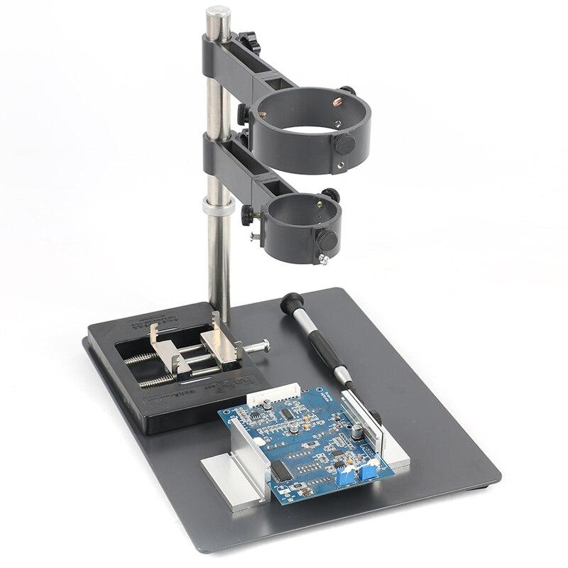 2 en 1 métal industriel Microscope numérique caméra support de Table Station de soudage pistolet à Air chaud pour 100X 300X C monture lentille
