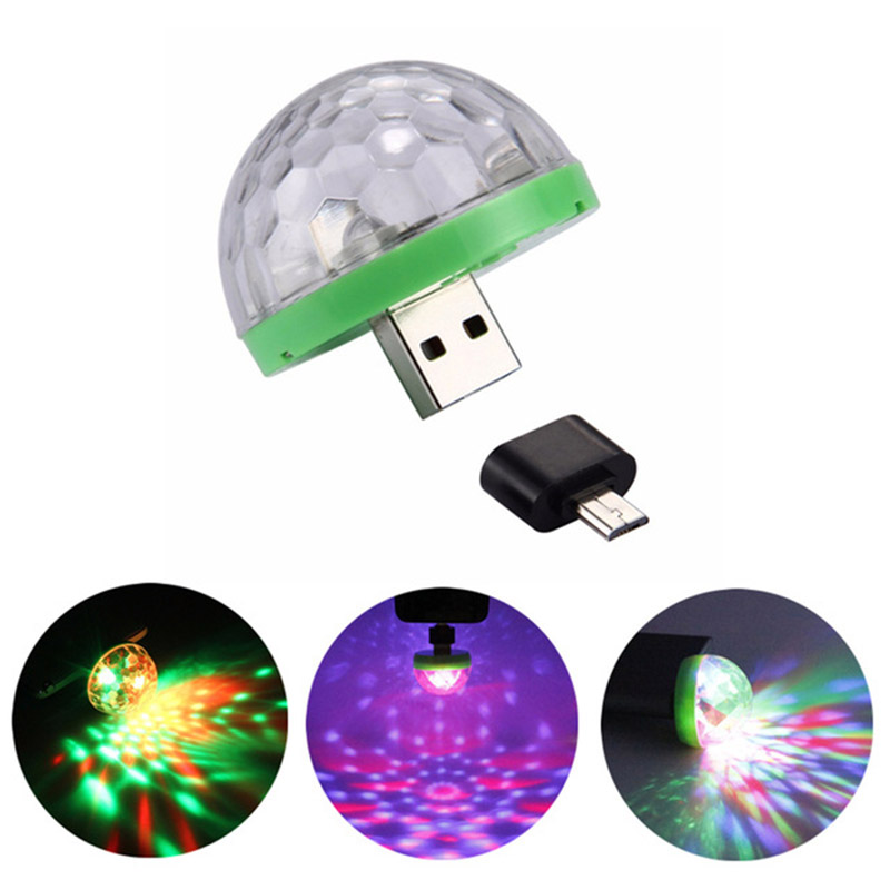 RGB USB Led Night Light Christmas Holiday Lights Crystal Magic Ball Disco Stage Lamp KTV Bedroom Party Supplies Kids Toys Gifts