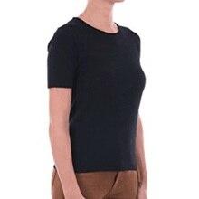 Тяжелое качество 200GSM австралийская мериносовая шерсть женская футболка с коротким рукавом, Женская футболка из мериносовой шерсти, размер от S до 2XL