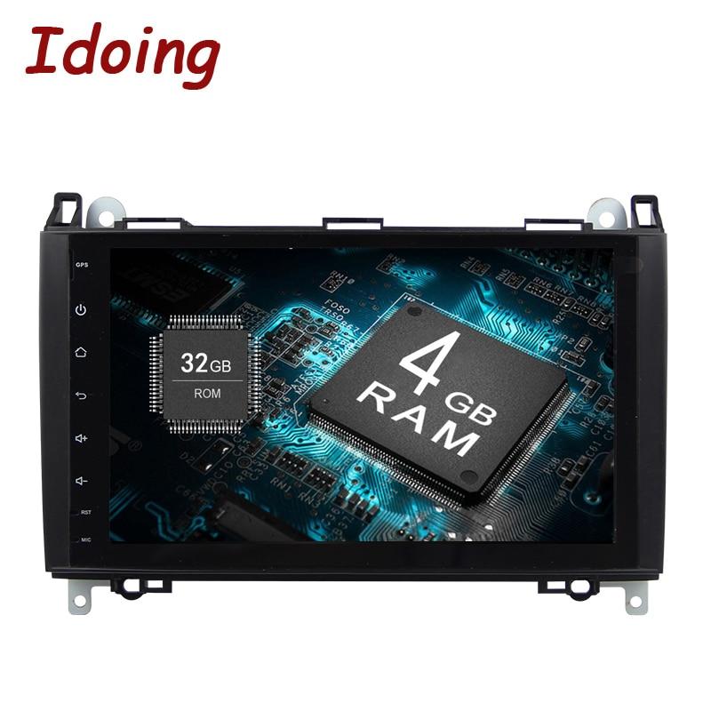 Idoing Android8.0 4g + 32g 8 Core 2Din Volant Pour MercedesBenz Une Classe et B Clas voiture Lecteur Multimédia Rapide Boot TV 1080 p HDP